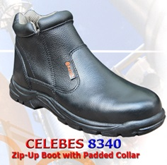 KENT Safety Shoes-Zip Up Boot