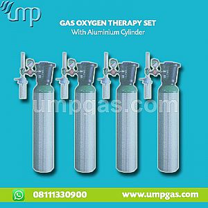 OXYGEN THERAPY SET with ALUMINIUM CYLINDER